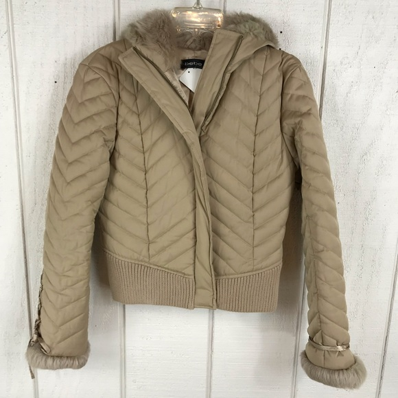 bebe Jackets & Blazers - Bebe down feather jacket size Small